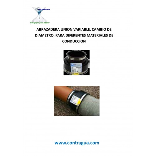 DIAMETER CHANGE CLAMP D-240 / 190mm, VARIABLE, SANITATION