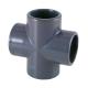 EQUAL CROSS PVC PRESSURE, D-75mm, PN16, FEMALE CONNECTION