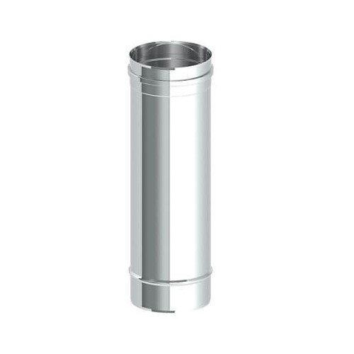 STAINLESS STRAIGHT MODULE, SINGLE WALL, AISI 304, DIAMETER 125mm, LENGTH 500mm.