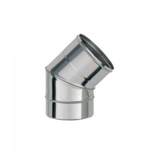 CODO 45º D-130 INOX 304, SIMPLE PARED