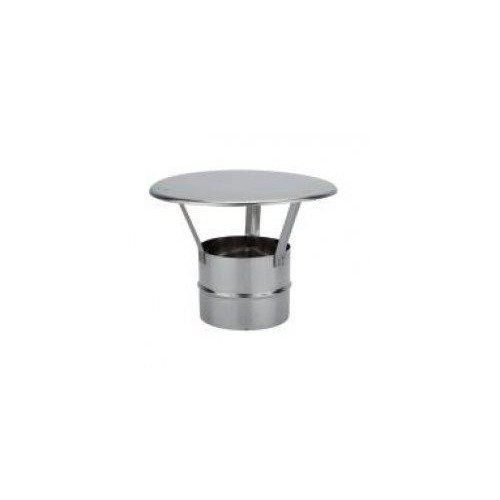 DEFLECTOR ANTILLUVIA D-125 INOX 304, SIMPLE PARED