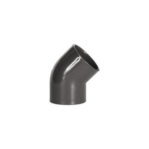 PRESSURE ELBOW, 45º, D-315, PN16, PVC, ENCOLAR, H-H.