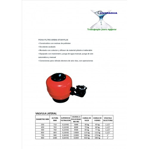 SAND FILTER FOR POOL STAR PLUS 750, ASTRALPOOL.