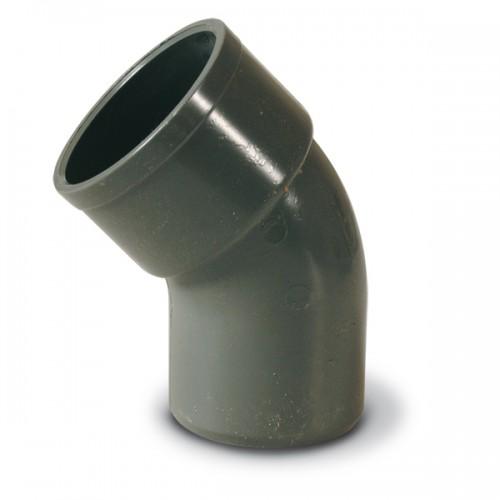 CODO PVC SANITARIO D-32, 45º, HEMBRA - MACHO, ENCOLAR (ADEQUA)