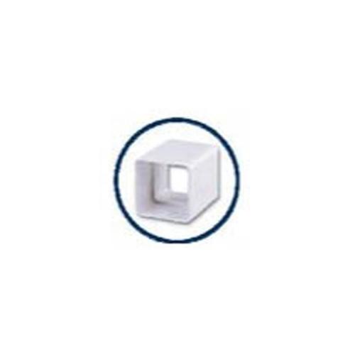 UNION SLEEVE PVC DUCT WHITE SQUARE, EUME