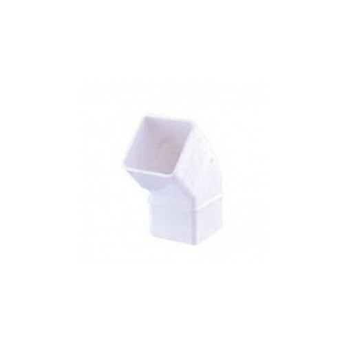 """SQUARE ELBOW 70x70 mm, 45º WHITE, FOR DOWN CANNON """"EUME"""""""