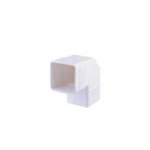 """SQUARE ELBOW PVC, 70x70 mm, 87º WHITE, FOR CHANNEL """"EUME"""""""