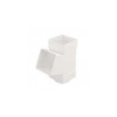 "SQUARE DERIVATION PVC 70x70, 45º WHITE, FOR CHANNEL ""EUME"""