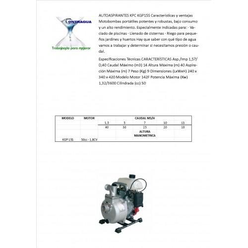 MOTOBOMBA GASOLINA KGP15S