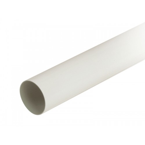 CIRCULAR DUCTING PVC TUBE D-110 WHITE, 3 METERS ROD.