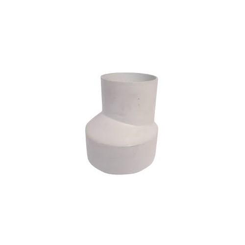 EXCENTRIC REDUCTION D-110 - 90, WHITE PVC, CANALON DOWN.