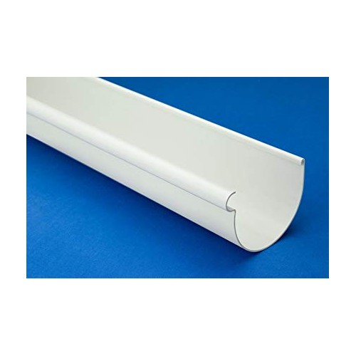 PVC CIRCULAR CHANNEL, WHITE, D-25, SECTIONS OF 1.5 METERS