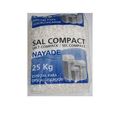 SACK 25 KG MARINE SALT, NAYADE, PILLS, COMPACTED, SPECIAL SOFTENER