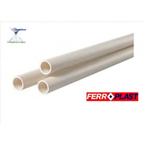 TUBO PVC D-40, BLANCO, SERIE B, CAÑA 3 METROS.