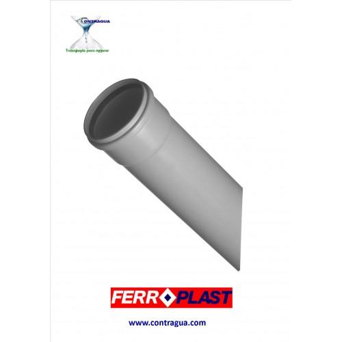 "TUBO PVC GRIS D-75, SERIE ""B"", JUNTA ELASTICA, SANEAMIENTO, CAÑA 3 METROS."