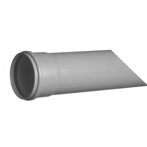 "GRAY PVC PIPE D-125, SERIES ""B"", ELASTIC GASKET, SANITATION, 3 METERS ROD."