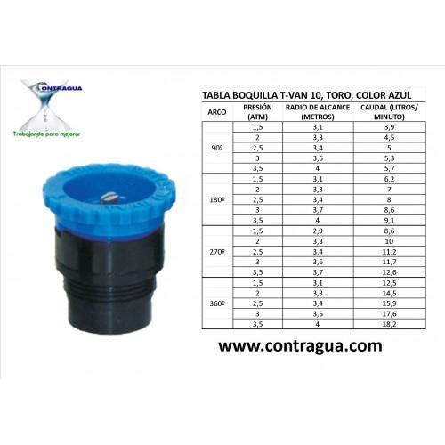 ADJUSTABLE NOZZLE T-VAN-10, TORO, BLUE COLOR