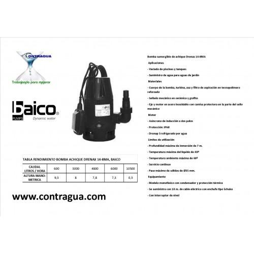 PUMP ACHIQUE DIRCA AGUAS DRENAX 14-8MA, BAICO.