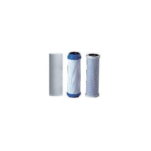 REPLACEMENT 3 STANDARD CARTRIDGES, REVERSE OSMOSIS.