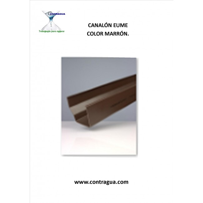PVC CHANNEL, BROWN COLOR, MODEL EUME, 2 METER SECTIONS.