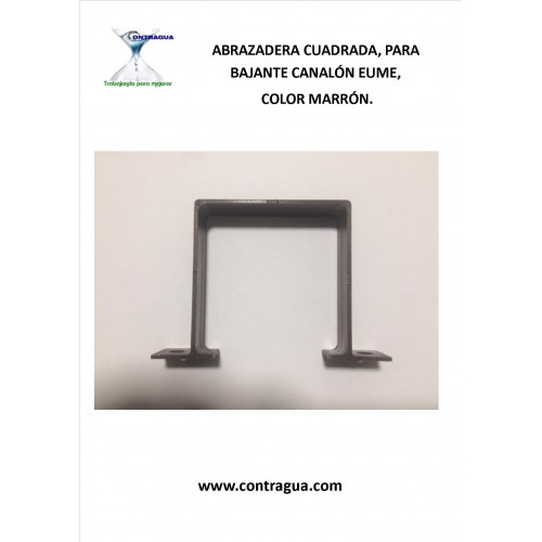 SQUARE CLAMP, PVC 70x70 COLOR BROWN, FOR DOWN EUME.