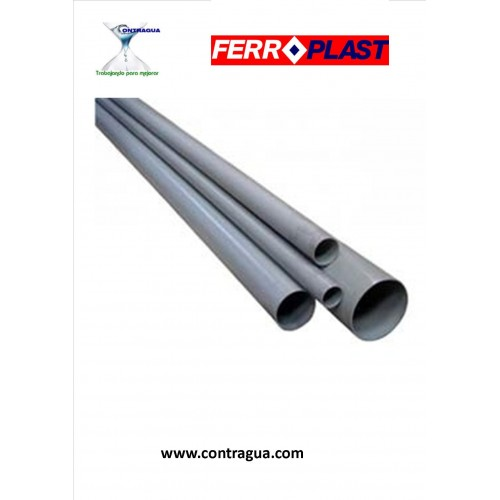 "PVC TUBE SERIES ""B"", D-40, 5 METER BAR, FERROPLAST."