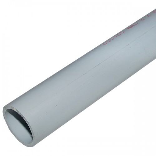 "PVC TUBE SERIES ""B"", D-50, 5 METER BAR, FERROPLAST."