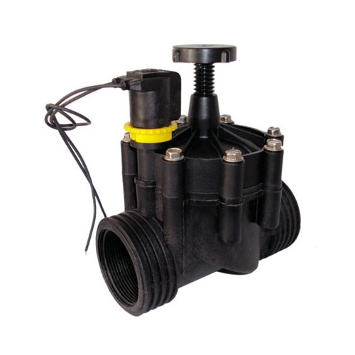 "ELECTRO VALVE RPE, 1,1 / 4 "", FEMALE THREAD, 24V SOLENOID, WITH FLOW REGULATOR."