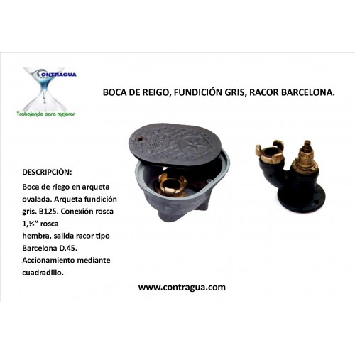 """MOUTH OF IRRIGATION, GRAY FOUNDRY, BARCELONA RACOR 1,1 / 2 """""""