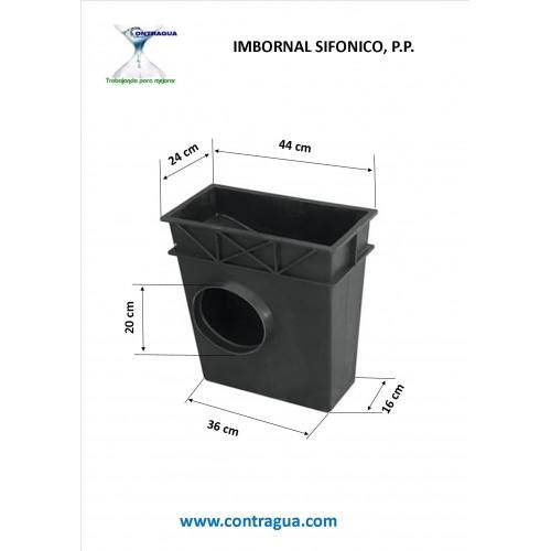 IMBORNAL SIFONICO P.P. 44x24, SALIDA D-200