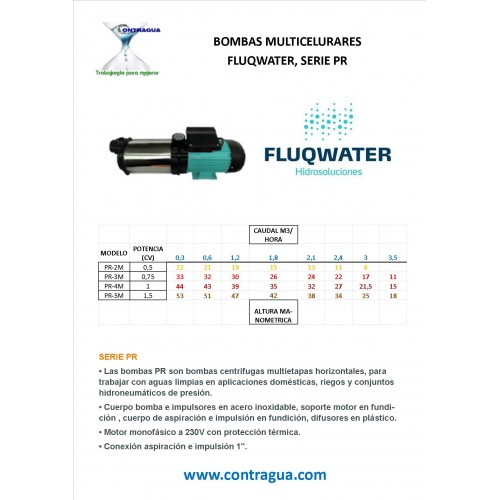 FLUQWATER PR-4M MULTICELLULAR CENTRIFUGAL PUMP