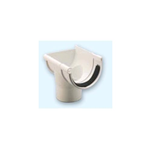 RIGHT DOWN FOR CIRCULAR CHANNEL, WHITE PVC D-25