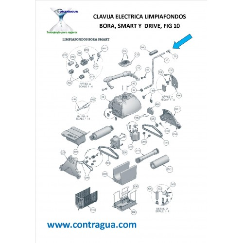 ELECTRIC PLUG CLEANING BORA, (SMART) AND (DRIVE), FUGURE 10.