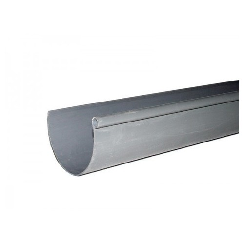PVC D-33 GRAY CHANNEL, (1 FLANGE), SECTIONS OF 1.5 METERS.