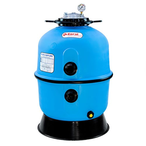 POOL FILTER, INJECTED PLASTIC, NEPTUNE 500 C / V, CORAL