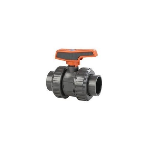 PVC BALL VALVE, D-50mm, STD SERIES, CEPEX, GLUED ENDS, PN16