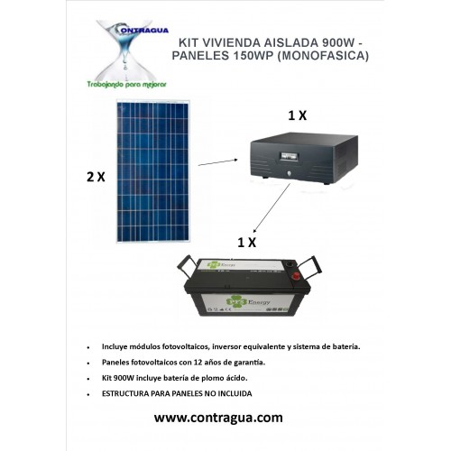 900W ISOLATED HOUSING KIT - 150WP PANELS (SINGLE PHASE)