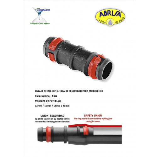 LINK P.P. MICRO IRRIGATION, 12mm, WITH RING