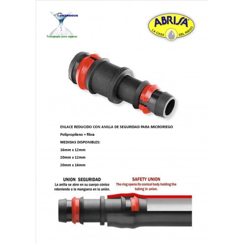 REDUCED LINK, MICRO IRRIGATION 20-12mm, WITH RING