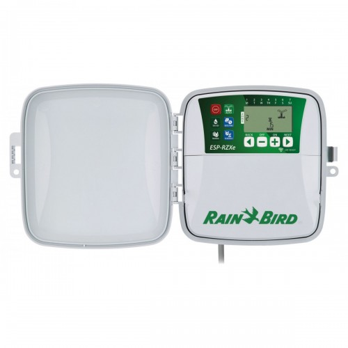 RAIN BIRD PROGRAMMER, RZX4e, 4 STATIONS, COMPATIBLE WITH WIFI.