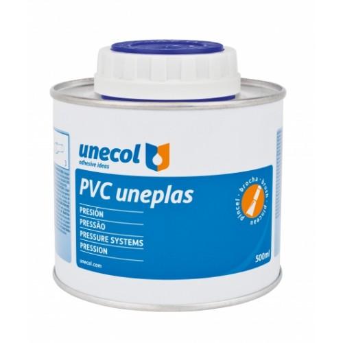 PVC ADHESIVE, 500 ML, UNEPLAS WITH BRUSH, (UNECOL)