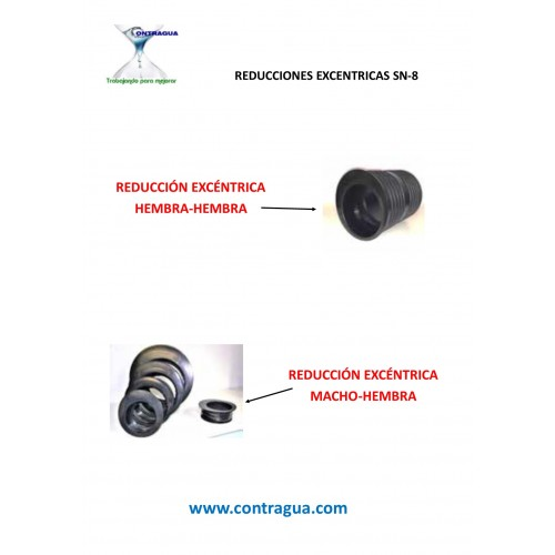 ECCENTRIC REDUCTION D-250 / 200mm, SN8, FEMALE-FEMALE CONNECTION