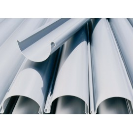 CANALONES Y ACCESORIOS PVC CIRCULAR GRIS